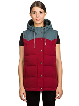 f0cc3e35007 Patagonia Women s Bivy Down Hooded Vest Drumfire Red 27746 DRMF (Small)