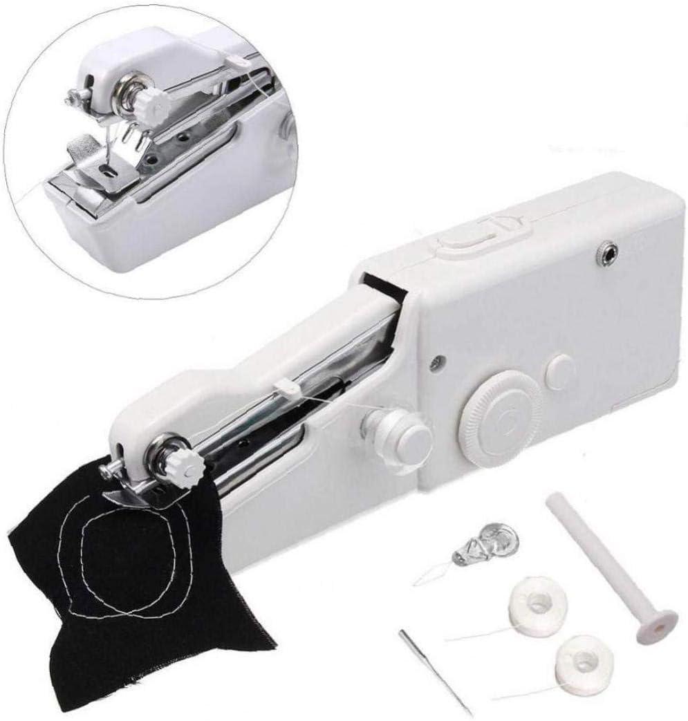 Angoter Mini Handheld Sewing Machine Portable Electrical Hand Sewing Machine Accessories Fast Sew Stitching Machine Home Travel