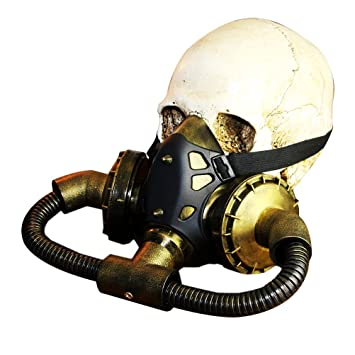 LUOEM Halloween Masquerade Steampunk Gas Máscara Decoración Festival Party Supplies Cosplay Props
