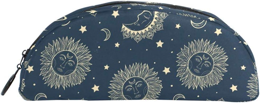 Estuche para lápices semicirculares con diseño de luna, color azul oscuro: Amazon.es: Hogar