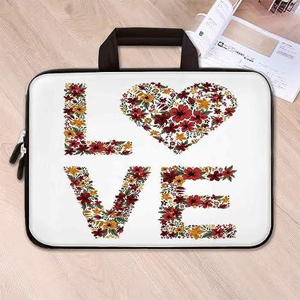 Amazon com: Valentines Day Decor Printing Neoprene Laptop Bag,Garden