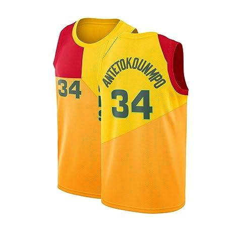 huge discount 8d29d f0b0c Fysasf Mens Milwaukee Antetokounmpo Jersey 34 Giannis Adult Basketball