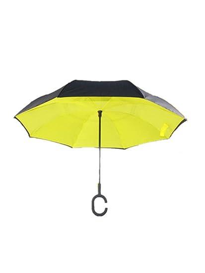 El nuevo paraguas Invertito doble tipo C Invertito mojado de superficie mojado de ahorro del paraguas
