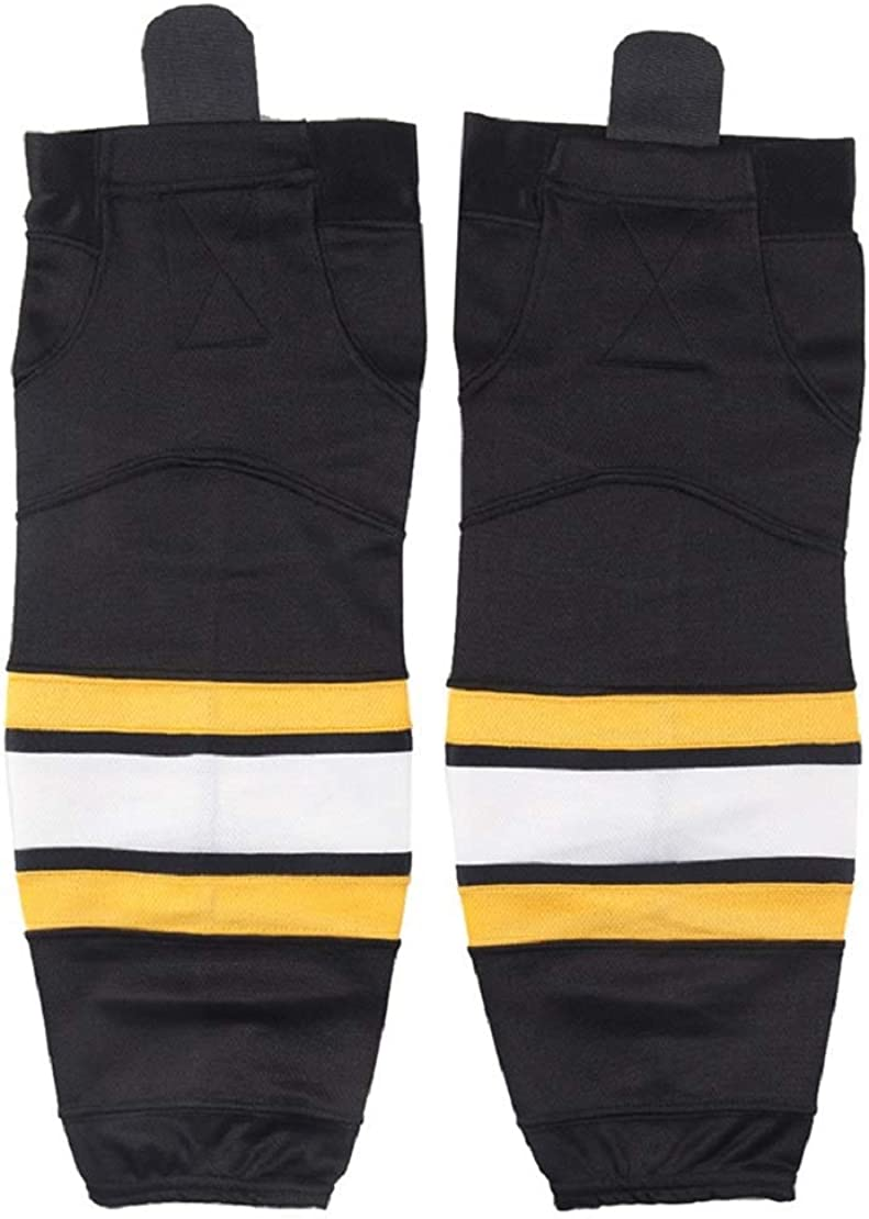Senior and Junior Adult and Youth 2 Pair Team Color Dry Fit Ice Hockey Socks for Men and Boys EALER HS100 Series