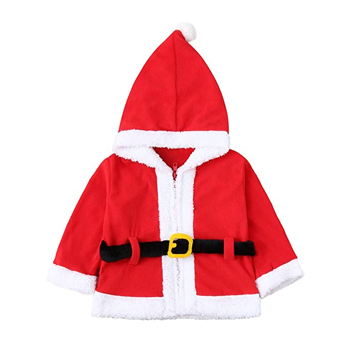 Amazon.com: 1-4 Years Infant Baby Pullover Outfits,Boys Girls Christmas Xmas Fleece Hooded Tops Coat (4T, Red): Electronics