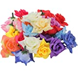 Ci 29147 40 piece 200 g hand made paper flowers assorted colours pinzhi 24 pcs exquisite handwork craft artificial mixed color rose flower heads home wedding party prom mightylinksfo