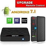 TV Box Android 7.1 - VIDEN W1 Smart TV Box [2018 Ultima Generazione] Amlogic S905W Quad-Core, 1GB RAM & 8GB ROM, Video 4K UHD H.265, 2 Porte USB, HDMI, WiFi Web TV Box, +Air Telecomando Mini Tastiera