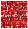キャラクター生地・リサとガスパール(赤)[10cm単位(生地幅108cm)]の商品画像