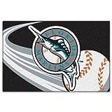 "MLB Miami Marlins Tufted Rug, 20"" x 30"""