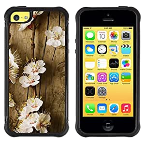 Suave TPU GEL Carcasa Funda Silicona Blando Estuche Caso de protección (para) Apple Iphone 5C / CECELL Phone case / / Flowers Spring Tree Blossoming White Nature /