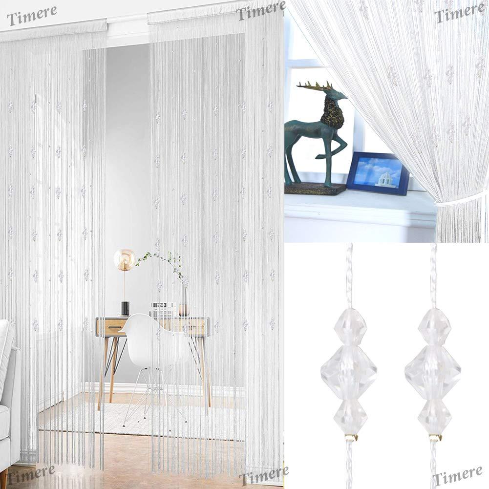 /Écran en Cristal 90 x 200 cm Taille L Panneau de Porte en Perles ZUIYIN Rideau de Porte avec Perles de Cristal et Pampilles Tc-05 Paravent de d/écoration int/érieure
