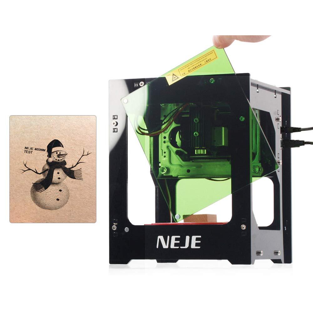 KKmoon KZ 2000mW 405nm Graveur La-ser Smart AI Mini Machine de Gravure