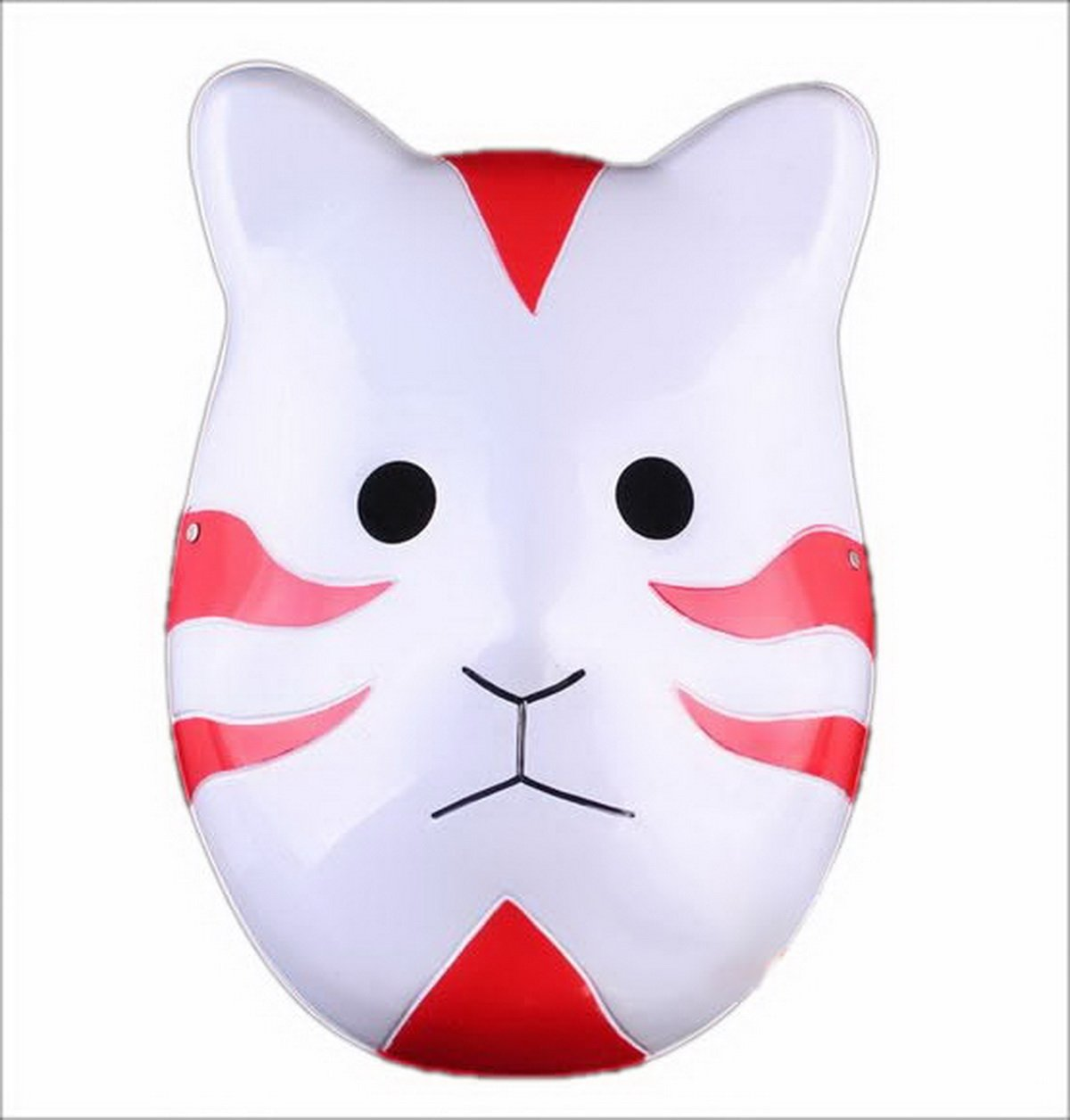 Naruto Shippuuden ANBU Cosplay Mask Itachi Cat Style Red by Renineic: Amazon.es: Juguetes y juegos