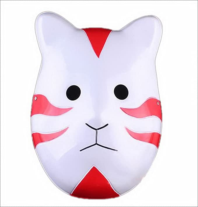 Naruto Shippuuden ANBU Cosplay Mask Itachi Cat Style Red by ...