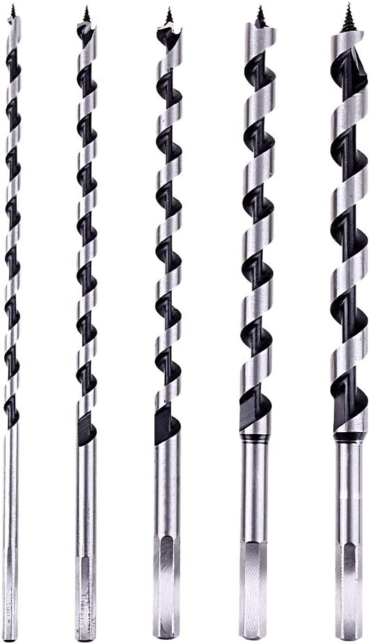 230MM long GOSONO 5pcs 6-14mm Deluxe hex shank Auger drill Bit Set Milling cutters for thick wood hole cutter