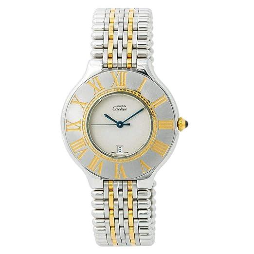 Cartier Must 21 Reloj de Cuarzo para Mujer 1340 (Certificado de Piel)