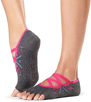Amazon.com: ToeSox - Calcetines antideslizantes para pilates ...