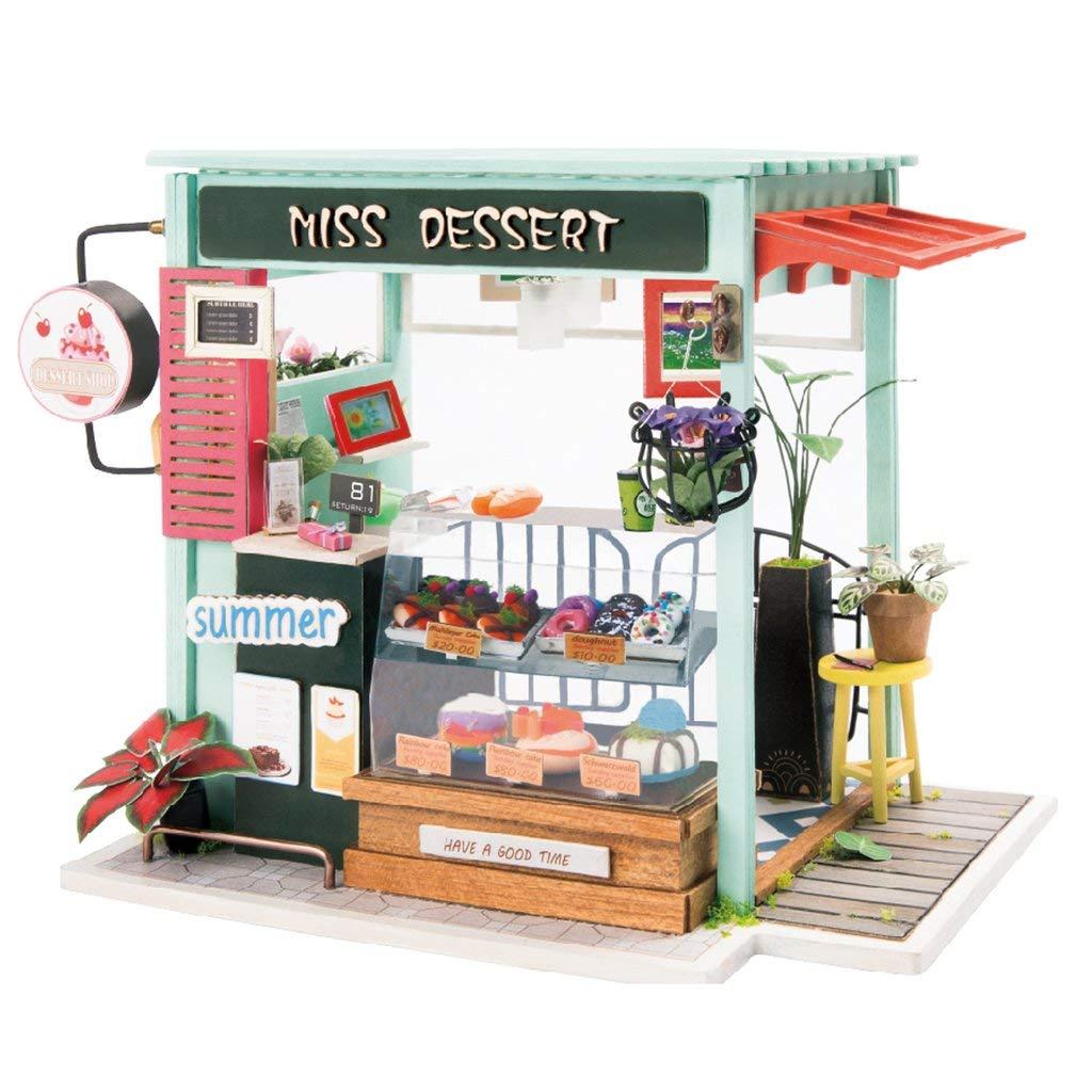 Kit de casa de juguete-mini DIY helado estación Suite-Home Craft Set/mejor educación proporciona el mejor regalo de cumpleaños para los adolescentes