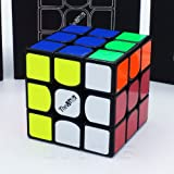 *THE VALK 3* - QiYi 3X3 Professional & Competition Speed Cube Rubik's cube Brain Game 3D Puzzle - BLACK