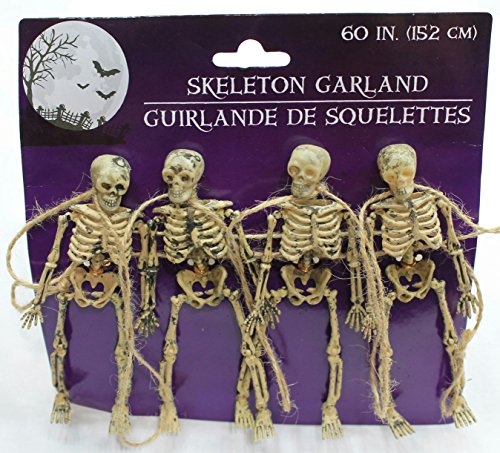 Skeleton Decor (60 Inches Scary Skeleton Garland Dangling Bone Halloween Decor (Pack of 3))