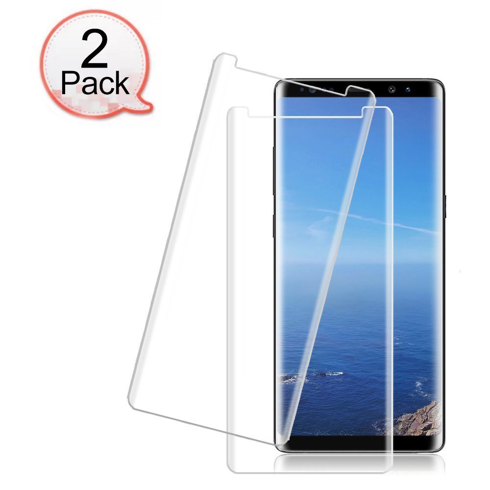 [2 Pack] Galaxy Note 8 Tempered Glass Screen Protector, Loopilops [HD Clear][Anti-Bubble][Anti-Scratch][Anti-Fingerprint] Tempered Glass Screen Protector Samsung Galaxy Note 8 [Case Friendly]