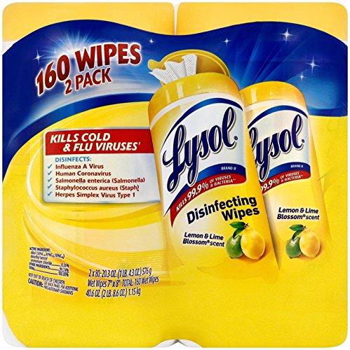UPC 019200802963, Lysol Disinfectant Wipes Citrus, 160 ct