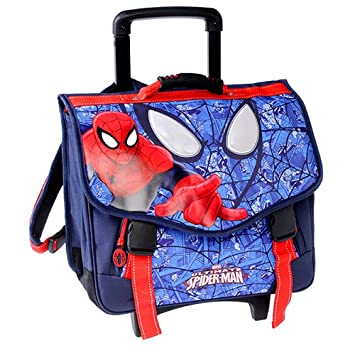 SPIDERMAN BAG CARTABLE Mochila escolar, 44 cm, Azul (Bleu): Amazon.es: Equipaje