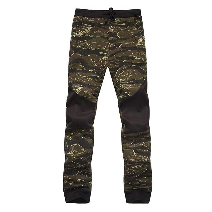 b511a01e66 Amazon.com: Men Pants Daoroka Camouflage Casual Loose Pocket Comfy ...