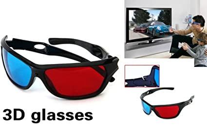 envío complementario vendible descuento mejor valorado Lentes 3d Rojo Cian Resistentes Reutilizables Gafas Tv Duros