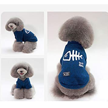 9adbd976558e9 HR Autumn And Winter Phi Phi Pet Clothes YP Fish Bone Pattern Wool  Two-legged