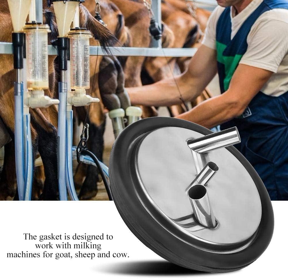 Jeffergarden Plastic Transparent Milk Bucket Lid and Gasket for Milking Machine Two Open Lid