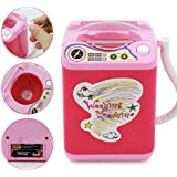 Lesgos Makeup Brush Spinner Cleaner Device Simulation Automatic Cleaning Mini Toy Washing Machine, 16x12x9 cm , Pink