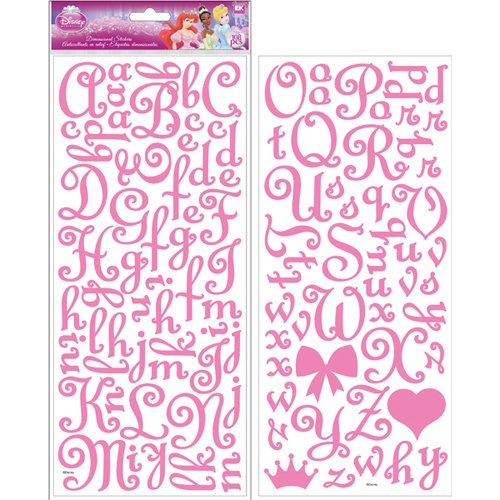 Disney Collection Dimensional Stickers - Princess Glitter Alphabet