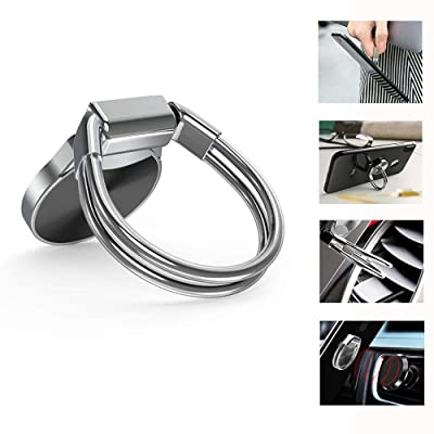 3-in-1 Phone Ring Holder Car Cellphone Holder Works with Magnetic Air Vent/Dashboard Car Phone Holder 360° Swivel Universal Compatible with iPhone XR, iPhone Xs, iPhone Xs MAX, iPhone X etc.