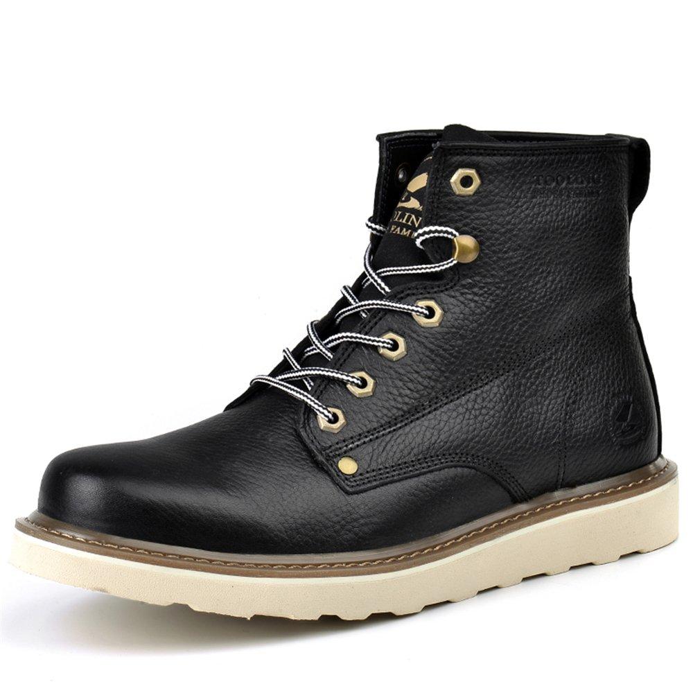ed08c7c80b9 Amazon.com | Men's Lace Up Ankle Boots 100% Full Grain Leather ...