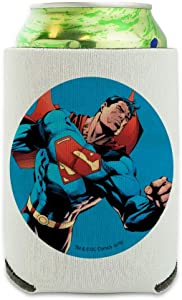 Superman Character Can Cooler - Drink Sleeve Hugger Collapsible Insulator - Beverage Insulated Holder