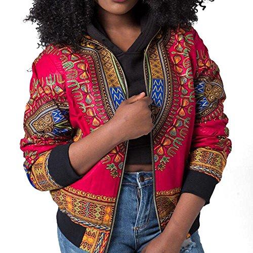 Amazon.com : Clearance!HOSOME Women Top Womens Autumn Spring Women Dashiki Long Sleeve Fashion African Print Dashiki Short Casual Jacket : Grocery ...