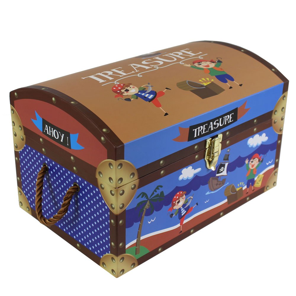 JVL Pirate Treasure Toy Chests Storage Boxes With Metal Clasp And Rope  Handles, Set Of 3: Amazon.co.uk: Kitchen U0026 Home