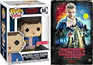 Stranger Things Game Series Exclusive VHS Set Season 1 DVD Blu-Ray 4 Disc Box Eleven 8-Bit Exclusive with Eggos Funko Figure Special Edition 2-Pack Combo Bundle