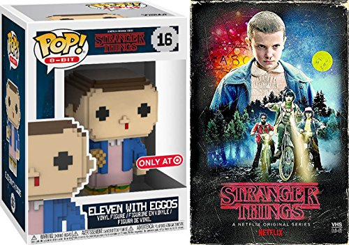(Stranger Things Game Series Exclusive VHS Set Season 1 DVD Blu-Ray 4 Disc Box Eleven 8-Bit Exclusive with Eggos Funko Figure Special Edition 2-Pack Combo Bundle)