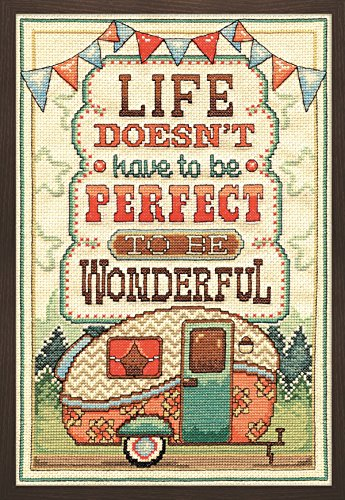Tobin 2903 14 Count Life is Wonderful Counted Cross Stitch K