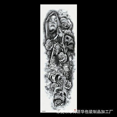 Modeganqing 3 Piezas Nuevas Pegatinas de Tatuaje de Brazo Completo ...