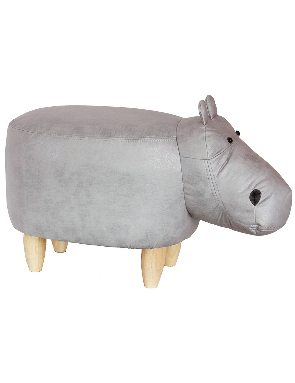 HAOSOON Animal ottoman Series Ottoman Footrest Stool with Vivid Adorable Animal-Like Features(Hippo) (grey) by HAOSOON (Image #3)