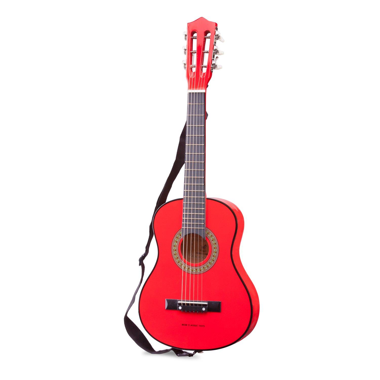 Eitech GmbH New Classic Toys - 10307 - Musikinstrument - Kindergitarre mit Tasche - Professionell - Rose