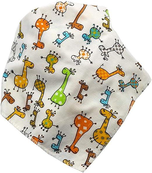 Kinshops Babero de algodón Babero Triángulo Capas Dobles Bebé de Dibujos Animados Bañador Dribble Babero Accesorios universales para bebé, Multicolor: Amazon.es: Hogar