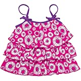 Sun Smarties Toddler UPF 50+ Sun Protection Daisy Tankini Swim Top 4T Hot Pink