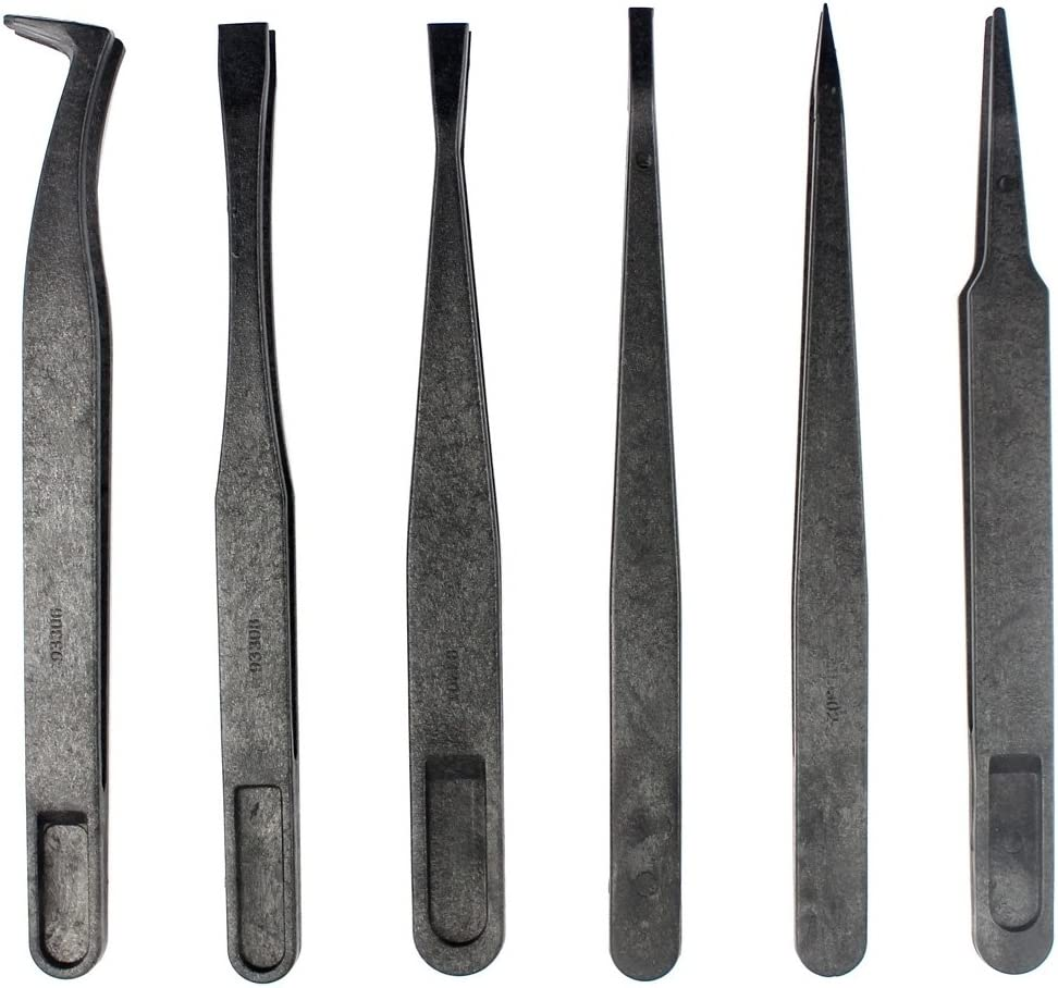 Family Must-Have Repair Tool for Digital Product Repair JF-S13 Anti-Static Carbon Fiber Straight Tip Tweezers for Phone Convenient