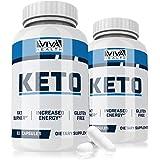 Premium Keto Pills - 2 Pack - Ketogenic Fat Burner - for Women & Men - Promotes Healthy Energy Levels - Burn Belly Fat Fast - Carb Blocker - Great Weight Loss Supplement - Viva Keto - 120 Capsules