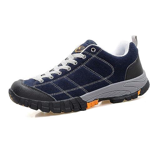 lovejin Zapatos de Trekking Hombre Impermeable Senderismo al Aire Libre Zapatos Antideslizante Zapatillas Escalada Sneakers: Amazon.es: Zapatos y ...