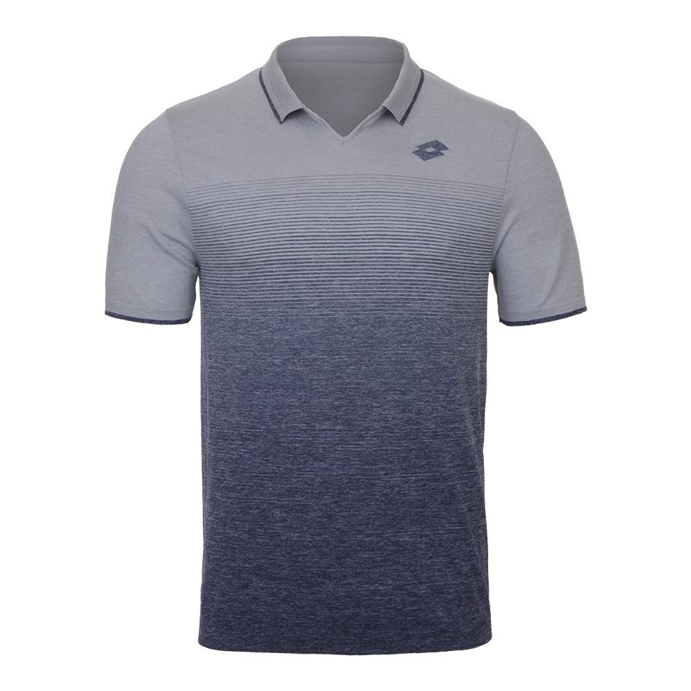 LOTTO COURT II POLO PEARL/BLU ML